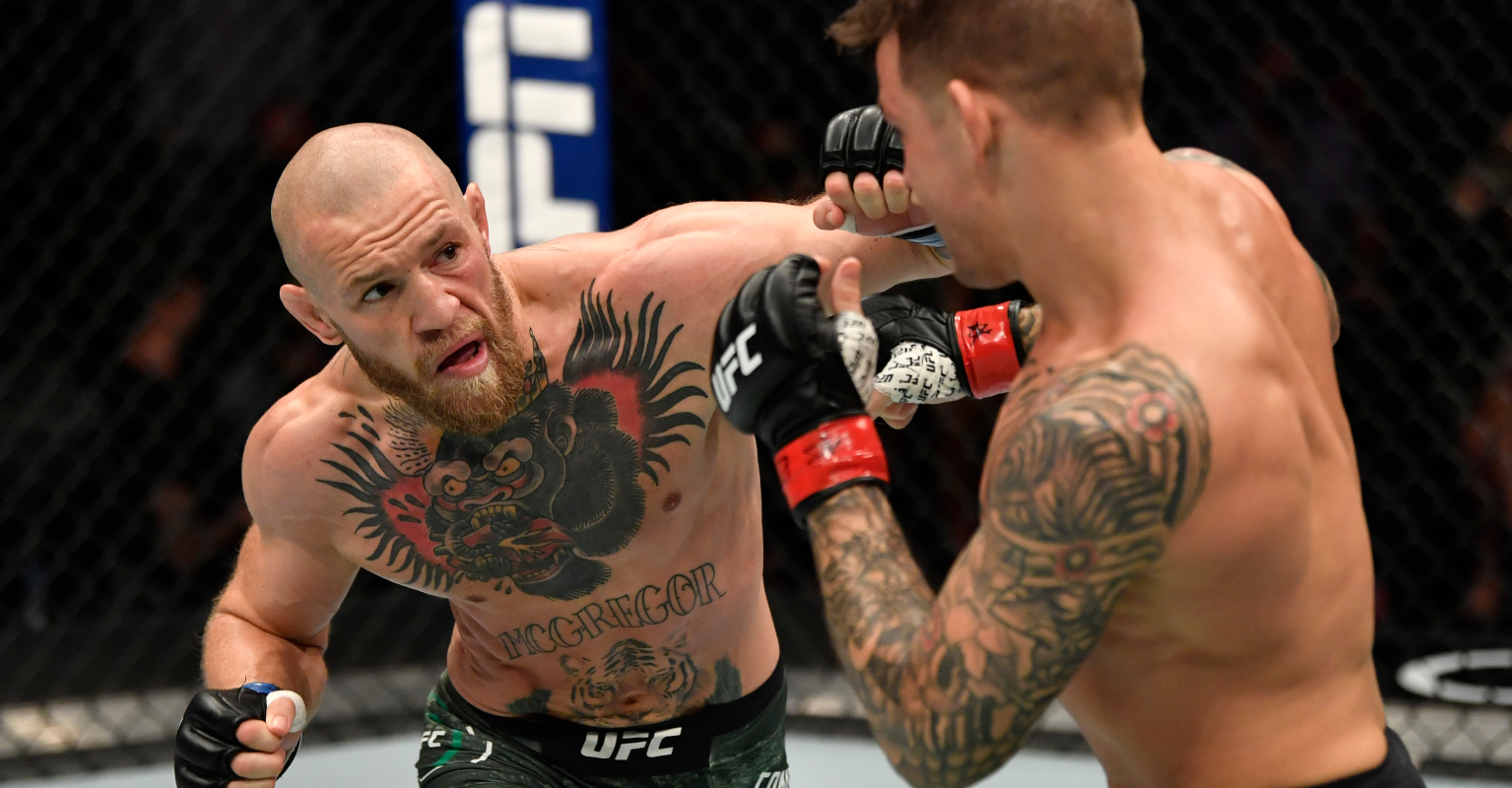 Backstage video shows Conor McGregor's interaction with Dustin Poirier after shock knockout loss