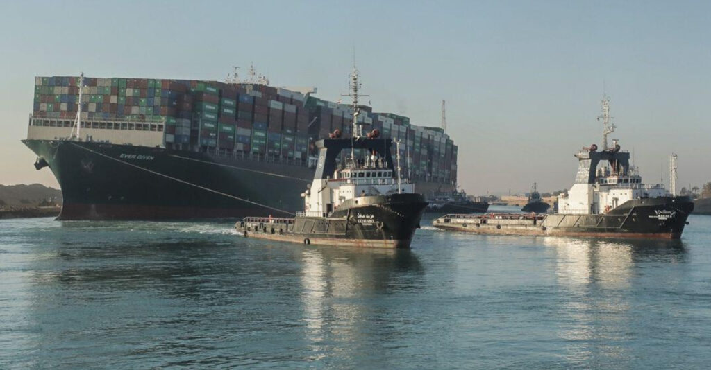 Suez Canal: The Ever Given is still stuck, but 'the stern has been freed'